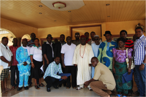 Father Anselm Adodo with Members of his Innovation Ecosystem and Participatory Action Research Team, visiting the King of Ewu, who himself acted as Steward for the Ecosystem