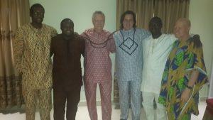 CISER Nigeria Co-Founders Folusho Titiloye, Basheer Oshodi, Akeem Oyewale, Ade Adegbenjo with Ronnie Lessem and Alexander Schieffer