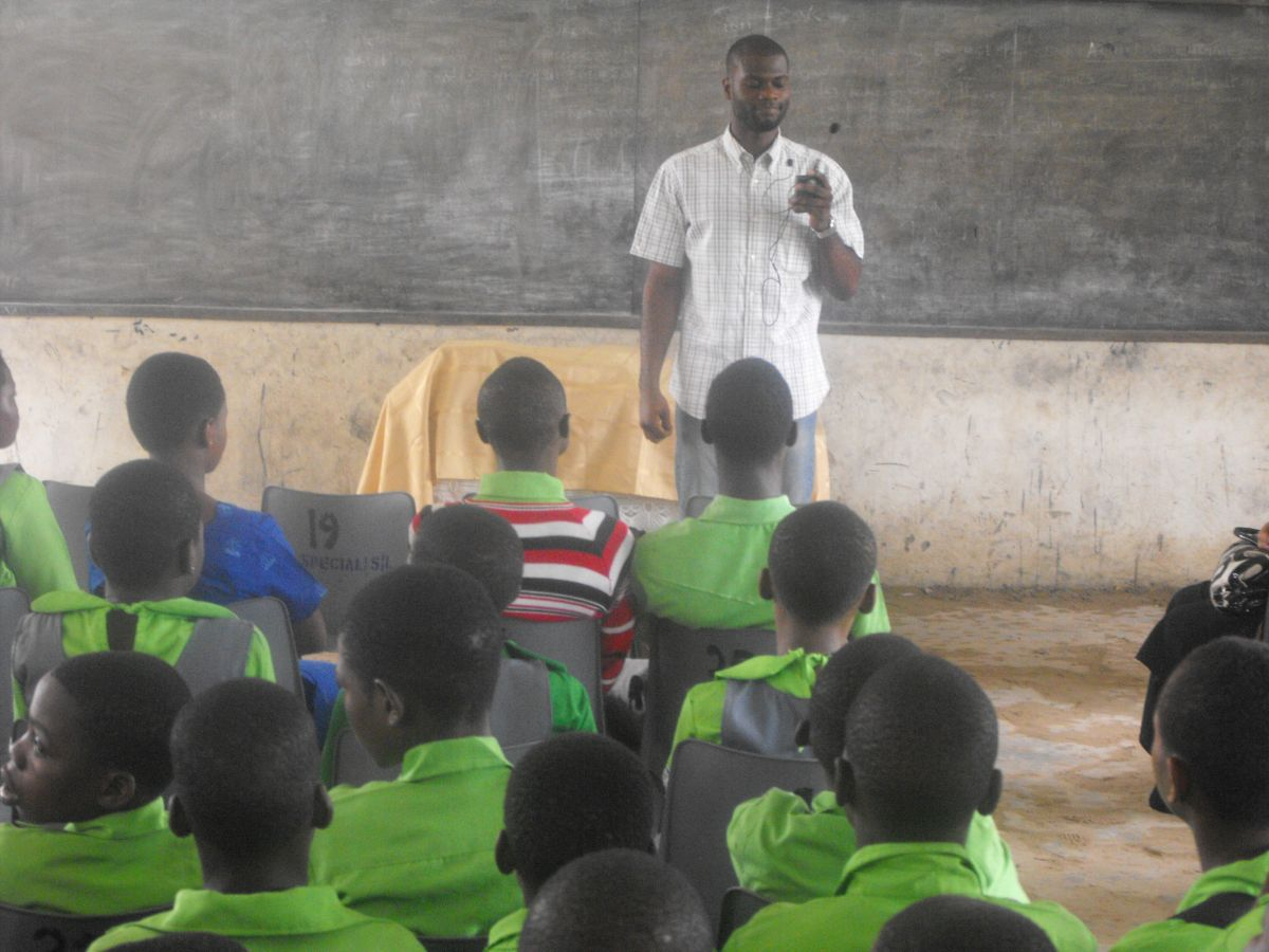 Giving back to society via education has always been driving me. Here I am with a class of Nigeria School Children.