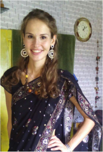 Zarah Kronbach with Coro in India