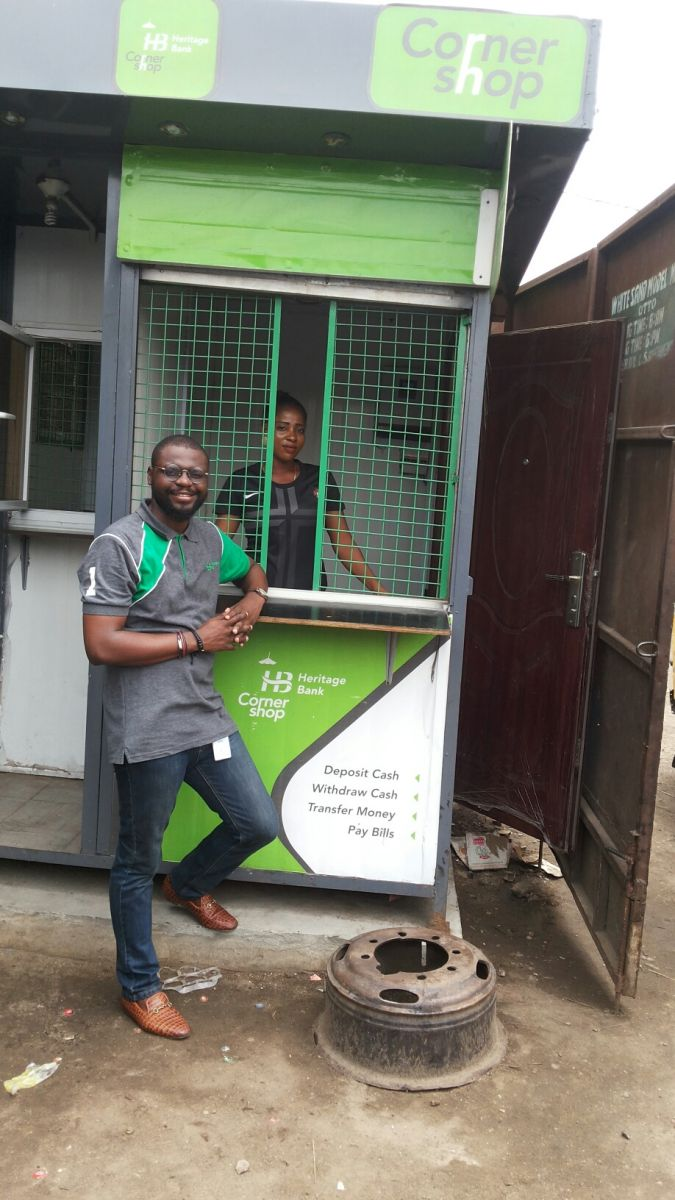 At a Cornershop of Heritage Bank in a Nigerian Village