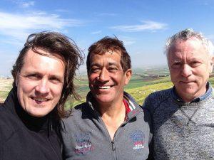 Adel Al Rasheed - With Ronnie Lessem and Alexander Schieffer at my home near Irbid in Jordan
