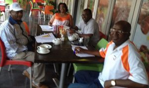 Pundutso Members Matupire, Mamukwa and Chinyuku participating in Cooperative Inquiry sessions