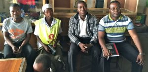 Andrew Nyambayo and facilitators from the Domboshava community