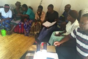 Cooperative Inquiry meeting with Murewa community