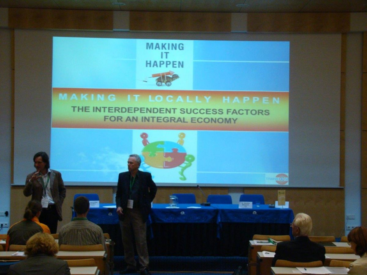 Slovenia / Integral Economics: Keynote at Integral Green Slovenia Conference