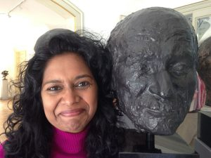 At PhD Module with Trans4m in Geneva, next to a sculpture of C.G. Jung