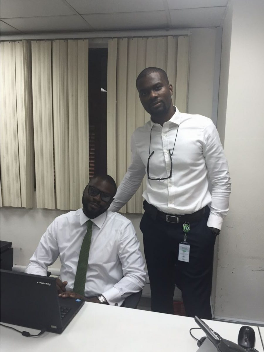 With my brother Jubril (right) at Heritage Bank - we are always challenging and supporting each other to increase our shared level of impact in society