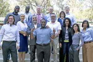 Da Vinci - With one of our PhD Groups during a Module at Da Vinci in South Africa