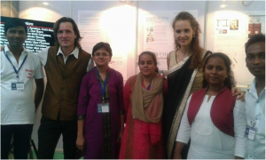 "With Members of the ""Rights to Pee"" Campaign, partner of Coro India, with Surpriya Jaan, Trans4m Junior Fellow Zarah Kronbach and Alexander Schieffer"