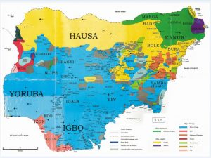 Ethnic Map of Nigeria
