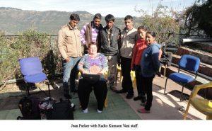 Jean Parker - Jean with Radio Kumaon Vani staff