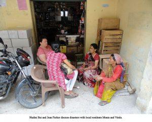 Jean Parker - Shalini Bai & Jean with women at Munia & Vimla