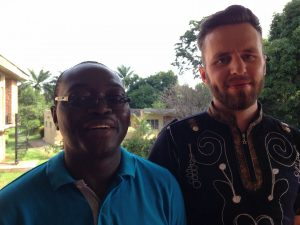 Amadeus with Paxherbals Founder Father Dr. Anselm Adodo